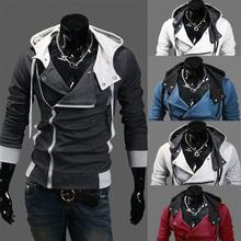 Hoodies men 2015 new brand moleton masculino turn-down collar sweatshirt tracksuit men full sleeve assassins creed hoodies MC65(China (Mainland))