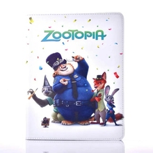 Zootopia Judy Nick Clawhauser three-toed sloth PU Leather Stand Flip Case Cover for Apple Tablet iPad2/iPad3/iPad4(China (Mainland))