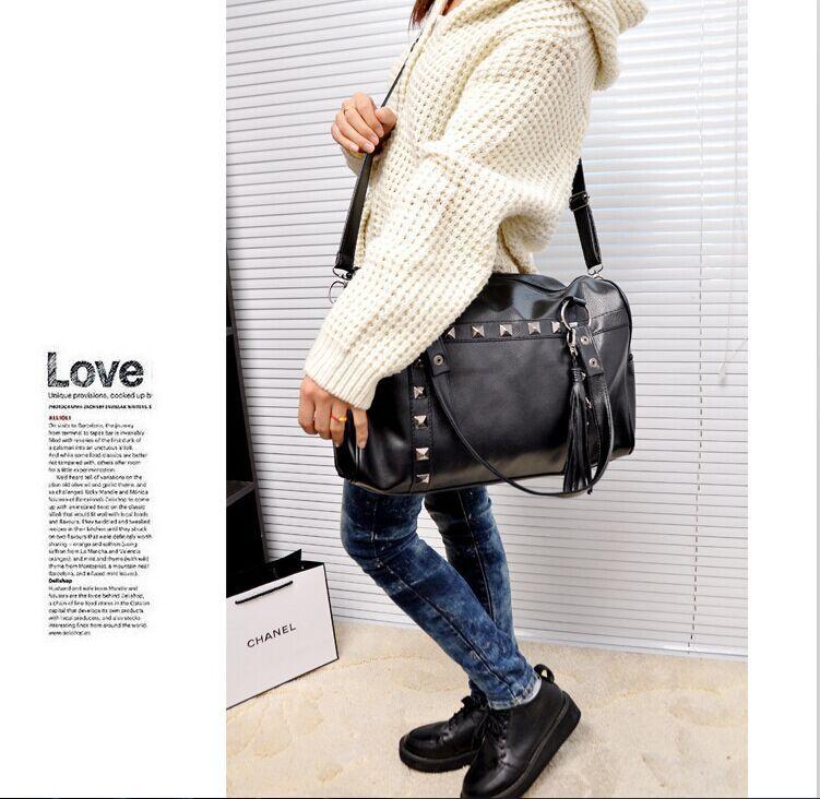 2015 women PU leather crossbody handbag Bucket bag Shell bag Inclined shoulder bag pure color big size LM20151089(China (Mainland))