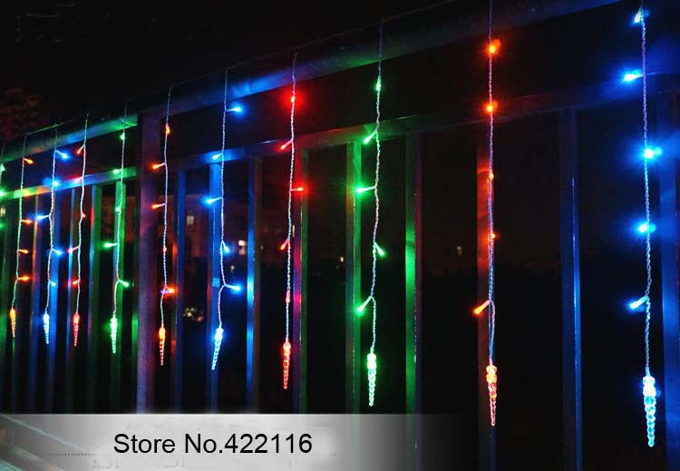 LED String Festival Holiday Curtain Lights, Multicolor 3.0m Icicle Ice Column 150 LED, PARTY CHRISTMAS WEDDING Lights(China (Mainland))