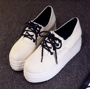Fashion Womens Lace Up British Goth Punk Canvas Shoes Woman Sneaker Hot Sale Platform Creepers Shoes For Women Sneakers Autumn<br><br>Aliexpress