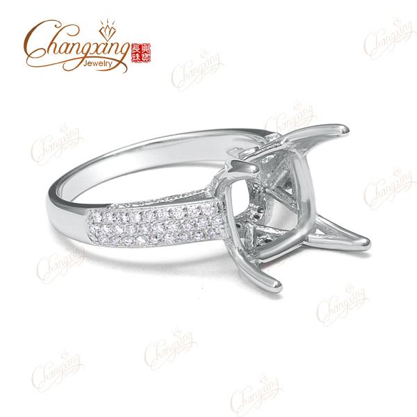 10 x 10 мм подушка форма 14 К золото вымостите комплект бриллиантовое обручальное кольцо