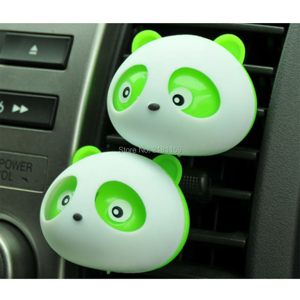 1pair NEW Product.Car-styling Panda Car Perfumes original Solid Air Freshener Air Conditioning Vent Flavoring In the Car perfume(China (Mainland))