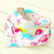 Baby Bandana Bibs Cotton 3pcs For Boy Girl Babies Triangle Kerchief Head Scarf Dribble Toddler Hat