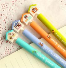 40 шт./лот конфеты цвет каваи проект дома шариковая ручка для детей канцелярских 4 синие чернила 0.38 мм перо школьные supplie