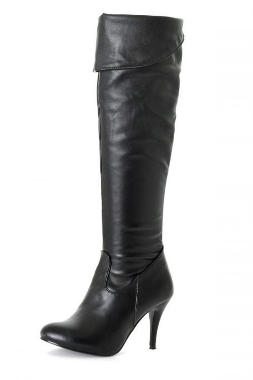 Size 34-47 Women High Heel Over Knee Boots Fashion Snow Long Boot Warm Winter Brand Botas Footwear Heels Shoes