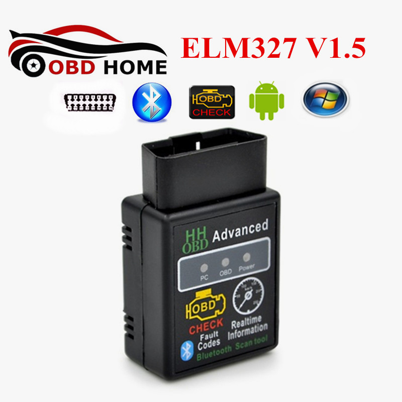 Latest Version V1.5 HH OBD ELM327 25K80 Chip Android Torque Bluetooth OBD2 OBDII CAN BUS Check Engine MINI ELM 327 Code Reader(China (Mainland))