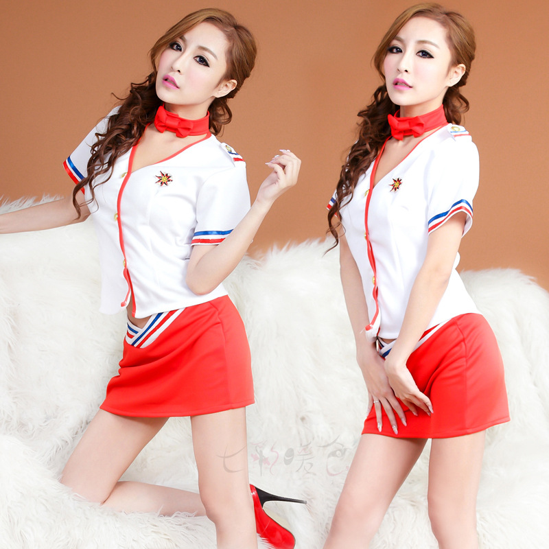 Our first-class cabin service airline stewardess sailor suit OL DS performed occupation police uniforms NY9168(China (Mainland))
