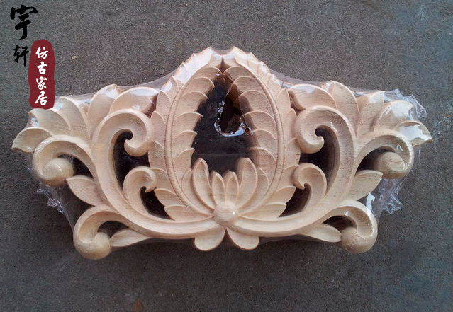 Dongyang wood carving fashion corners wood carved motif wood shavings applique furniture door cabinet door applique(China (Mainland))
