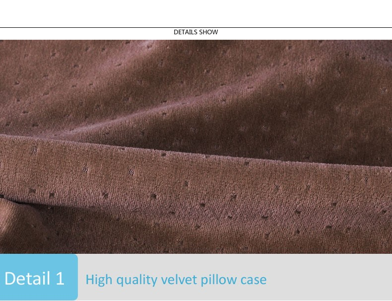 Colorful Velvet Pillowcase Cervical Vertebra Health Care Neck Memory Foam Pillow Release Pressure Bedding Memory Pillow cheap