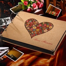 2016 10 inch New diy Photo Album Wedding Photos Children Family Memory Record Scrapbooking Album Sticky Lovers Birthday Gift(China (Mainland))