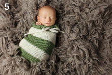 Baby Photography Props Newborn Photography Wraps Handmade Crochet Knitted Sleeping Bag Wool Knitted Bebe Photo Props Accessories(China)