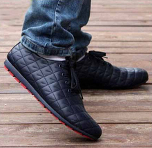 New style on list Summer comfort fresh ventilate leather Casual Lace up Loafers Shoes for men Free sipping