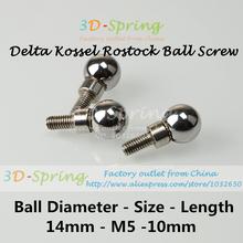 Delta Kossel Rostock K800 Magnet Joint Spherical Ball Screw For 3 D Printer Accessories 14mm-M5-10mm