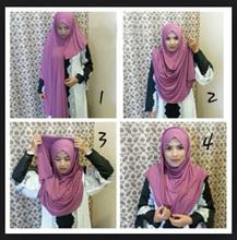Jersey instant shawl hijab slip on shawls plain amira hijabs cotton jersey scarf,can choose colors,free shipping 5140(China (Mainland))