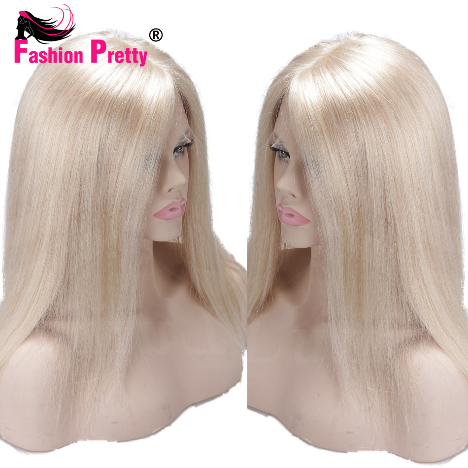 Virgin Indian Silky Straight Lace Front Human Hair wigs Pure Blonde #60 Lacefront Wig Glueless Full Lace Wigs for white women