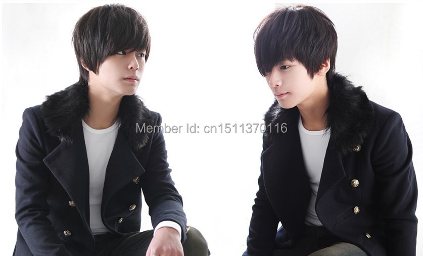 Free shipping Handsome boy han edition men s hair fleeciness wig hair man lifelike tide male