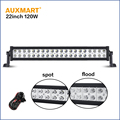 Auxmart CREE chips 22 120W bar light spot flood combo beam led light bar 12V 24V