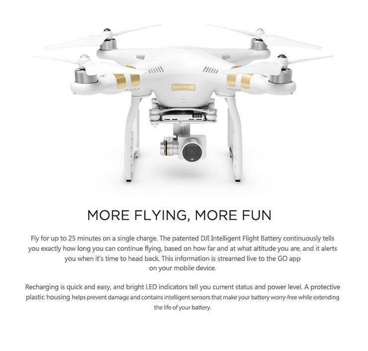 100% Original DJI Phantom 3 4K Version With 4K Camera RC Quadcopter RTF