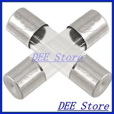 100 Pcs 2 Amp 250V Quick Fast Blow Type Glass Tube Fuses 5 x 20mm