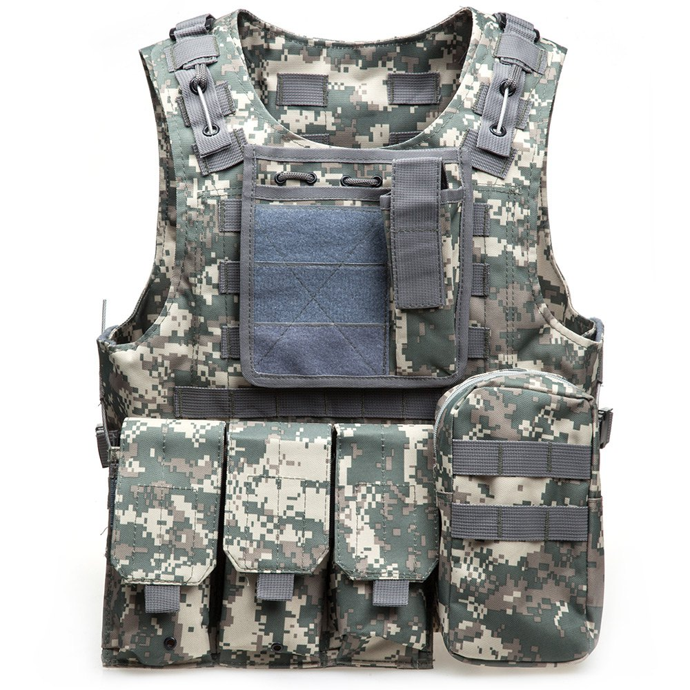 Outdoort Hunting Fishing Accessories Camouflage Vest Amphibious Multi Pockets Military Tactical Airsoft Molle Plate Carrier(China (Mainland))