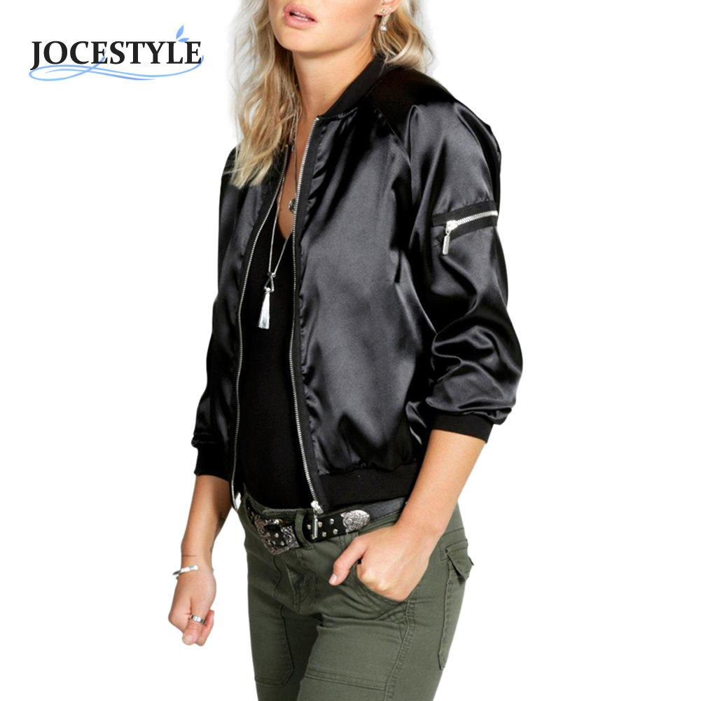 Ladies Silk Bomber Jacket Promotion-Shop for Promotional Ladies