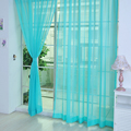 12 Solid Colors Eco friendly Sheer Voile Tulle Curtains Yarn Dyed Window Panel curtains for Living
