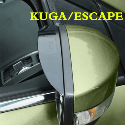 1Pair Rearview Mirror Rain Eyebrow Visor Reflective Mirror Side mirror Sticker Accessories For Ford KUGA Escape 2014 2015(China (Mainland))