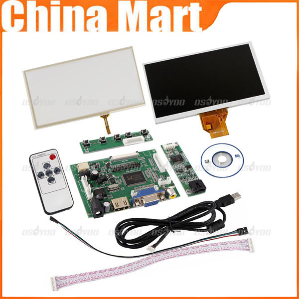 7 inch LCD Screen Display Touch Panel HDMI VGA Controller Kit for Raspberry Pi Free Shipping(China (Mainland))