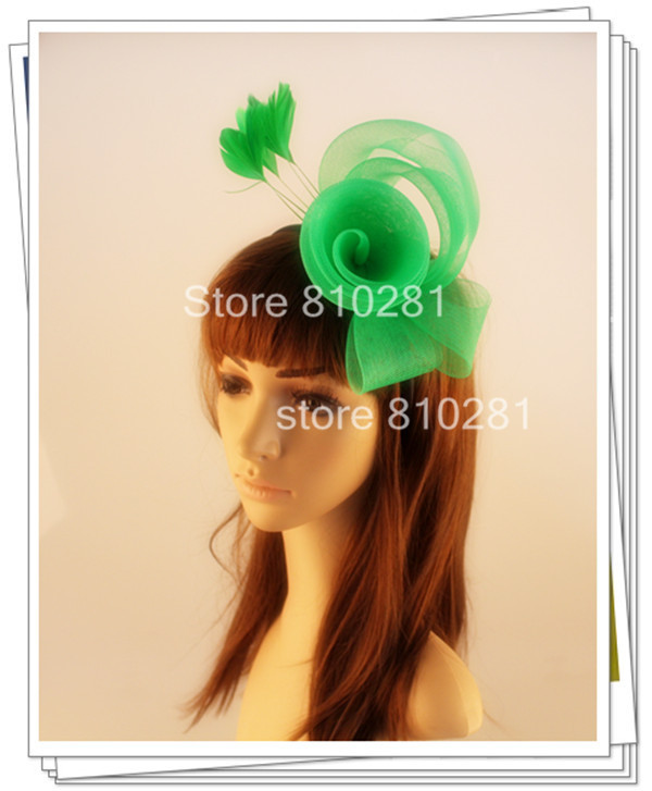 Ladies elegant feather flowers women hair accessories fancy fascinators for wedding hats bridal hats and races OF1527(China (Mainland))