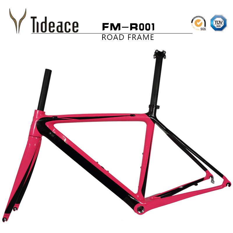 DIY carbon road frame 700C carbon frame BSA road carbon bike frame T800 chinese carbon frame 50/53/55CM(China (Mainland))