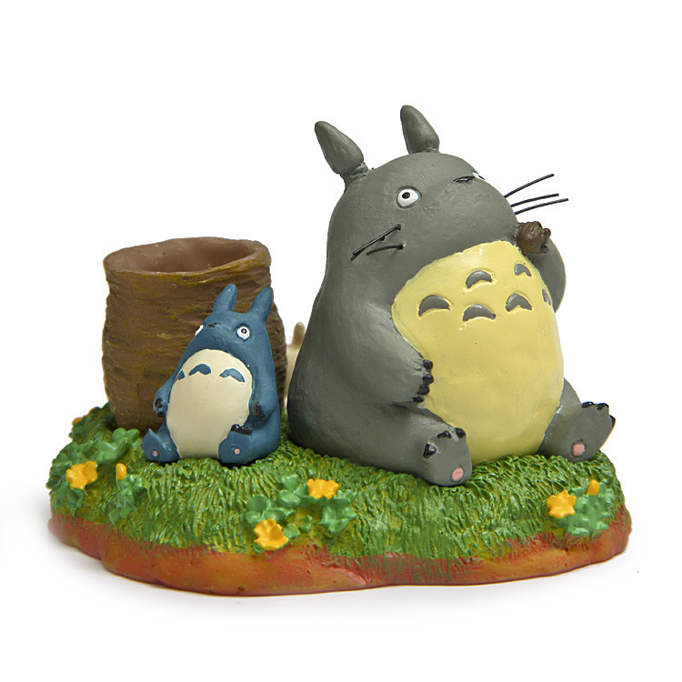 Pen container cartoon mini doll cute Totoro DIY scene children play house toy decoration for Potted plants sclupt action figure(China (Mainland))