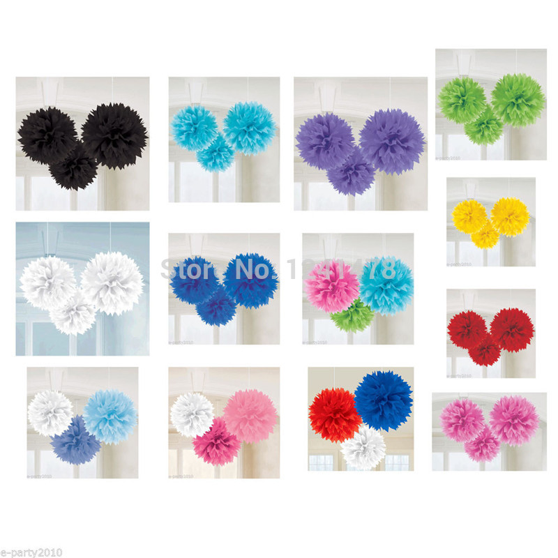 "24 Colors as chart !! Wedding tissue paper flower decorations 6""(15cm) 18pcs/lot paper pompom garlands for holiday(China (Mainland))"