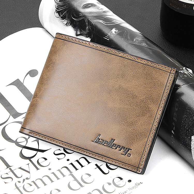 2016 Fashion New Quality Pu Leather Men's Wallet 2 Folds Short Portable 4 Colors Credit Card Holder Purse Wallet Free Shipping(China (Mainland))