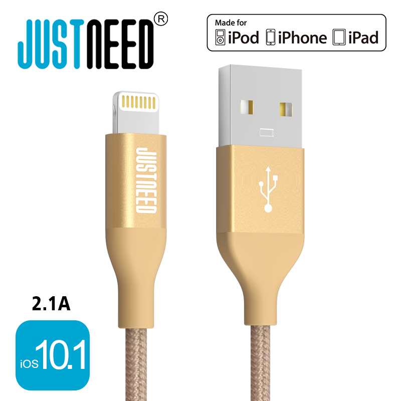 Original MFi Certified Metal Plug Nylon Braided Wire 8 Pin Mobile Phone Cable Usb Data Sync Charger for iPhone 5 6 7 iPad iOS 10(China (Mainland))