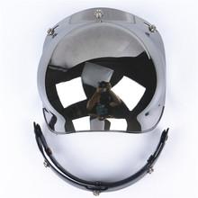 Compatible Motorcycle Bubble Visor 3 pin buckle Motorbike Helmet glass UV 400 Protection visor