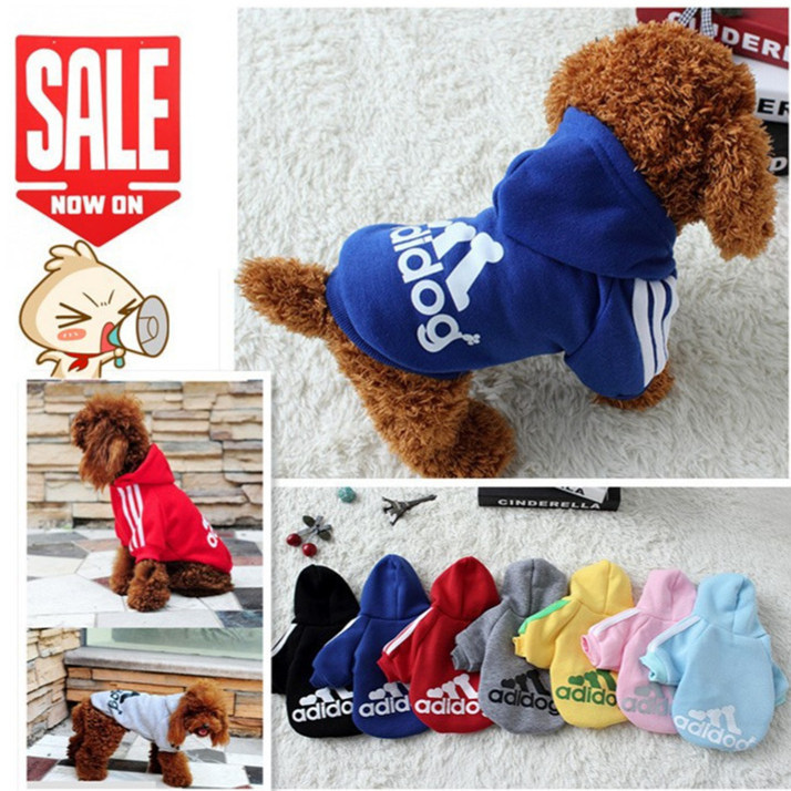 Free Shipping Cat Pet Dog Clothes Summer Winter Hoodie Coat Jumpsuit Sweater Adidog Clothing for Large Dogs Medium Small 3XL 4XL(China (Mainland))