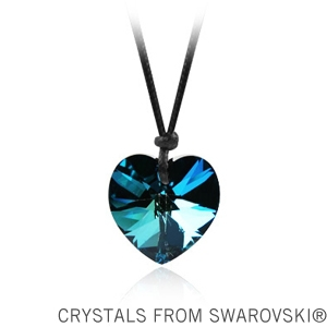 3 colors heart crystal pendant made with Swarovski elements 6228 heart pendant with rope no clasp(China (Mainland))