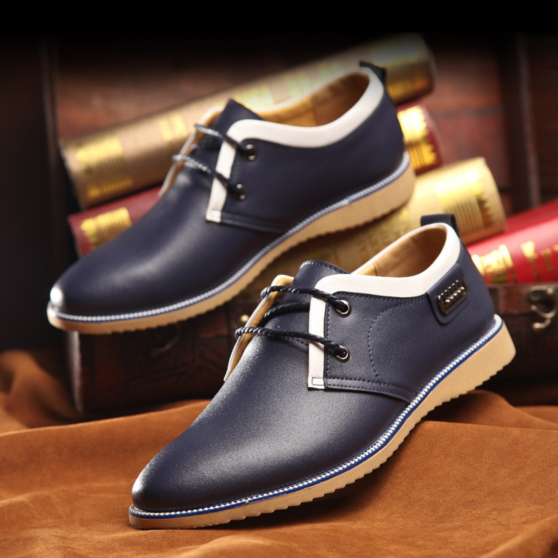 style business dress shoes leather breathable