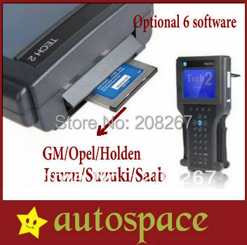 Full Set Tech 2 Diagnostic Scan Tool with One Free Software Card for GM OPEL SAAB ISUZU SUZUKI HOLDEN Tech2 Candi Kit Tech-2 DHL(China (Mainland))