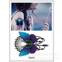TS092 The new tattoo makeup Sexy Blue Butterfly waterproof female ornamentation scar 3pcs/set tattoo sticker