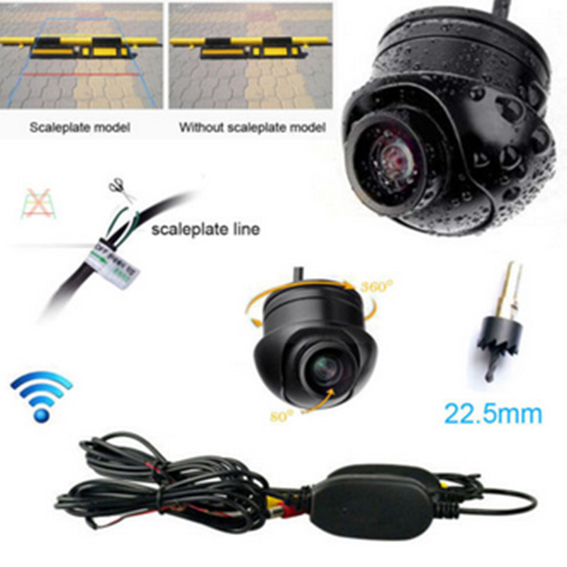 Car Style 1 x Wireless Car Rear View CCD 170 Angle Vision Front Backup Side Parking Camera Driving Function Necessary Supplies(China (Mainland))
