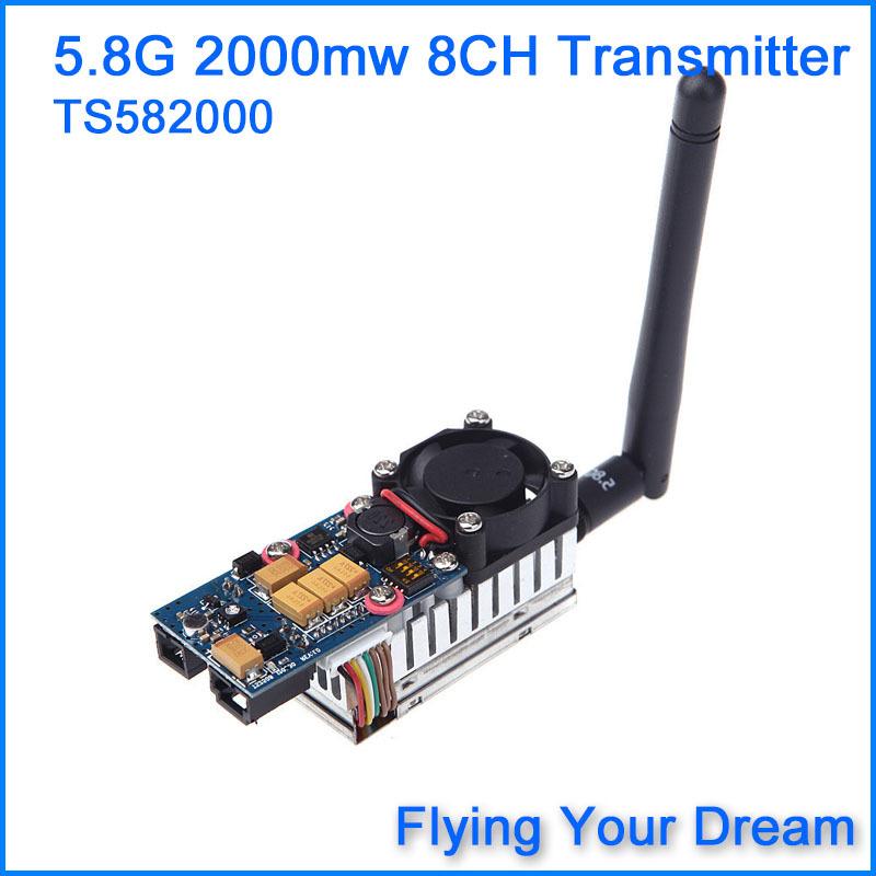 FPV 5.8Ghz 5.8G 2000mW 2W 8 Channel Wireless Audio Video Transmitter AV Sender for FPV System TS582000(China (Mainland))