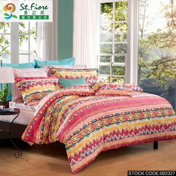 Fuanna роскошные романтические богемии 100% хлопок комплект постельных принадлежностей лист пододеяльник устанавливает полный размер постельных принадлежностей красный AQMM