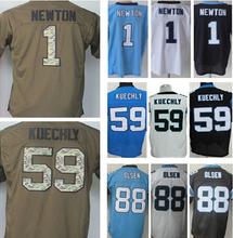 Lower Price Free shipping men's jersey,Elite 1 Newton 13 Benjamin 88 Olsen 59 Kuechly Jerseys,Size M-XXXL,Best Quality,Authentic(China (Mainland))