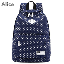 New Color Hot  Dot Girl School Bags Women Canvas Shoulder Bags Backpacks Free Shipping(China (Mainland))