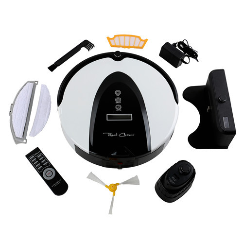 Wireless Remote Automatic Robot Vacuum Cleaner LCD Screen,HEPA Filter,Schedule,Virtual Wall,Self Charge,Express free shipping(China (Mainland))