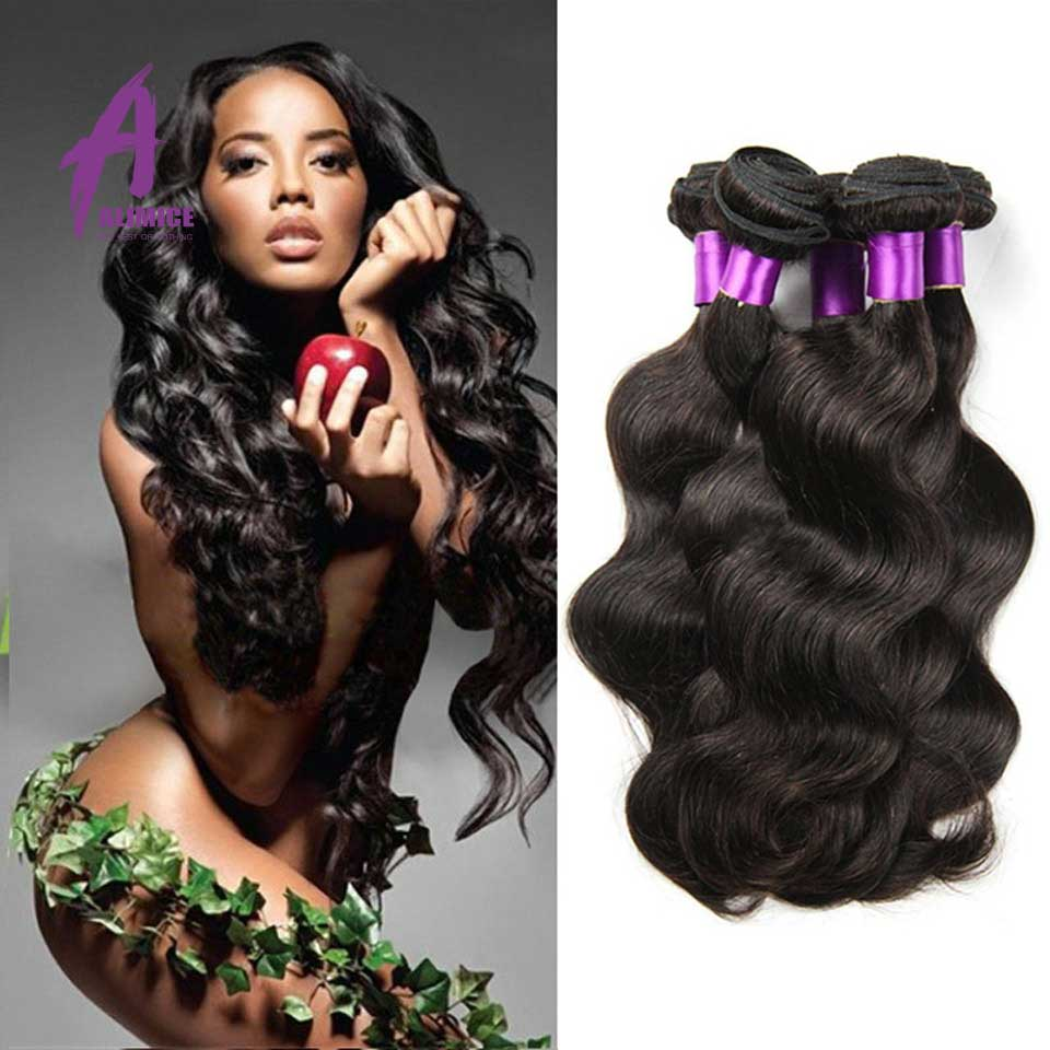 Indian Virgin Hair Body Wave 4 Bundles Unice Hair 7A Unprocessed Raw Virgin Indian Hair Indian Body Wave Remy Hair Extensions