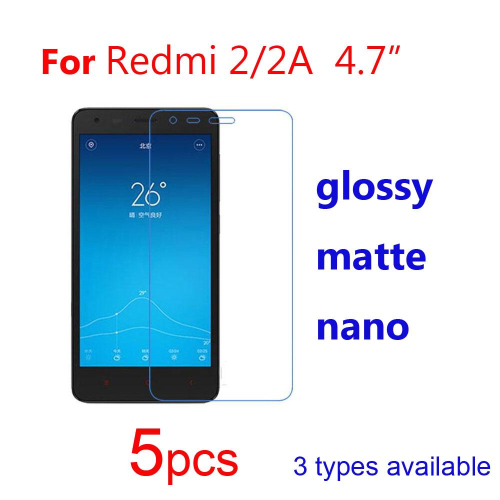5pcs Clear/Matte/Nano Phone Guard Protective Films for Xiaomi Xiomi Redmi 4 4A prime pro/3 3S  pro/2 2A/1S Screen Protector film