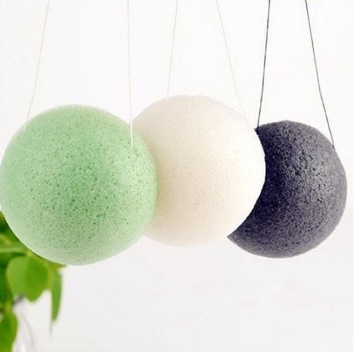 1Pcs Natural Konjac Konnyaku Facial Soft Puff Deep Cleansing Sponge Exfoliator(China (Mainland))